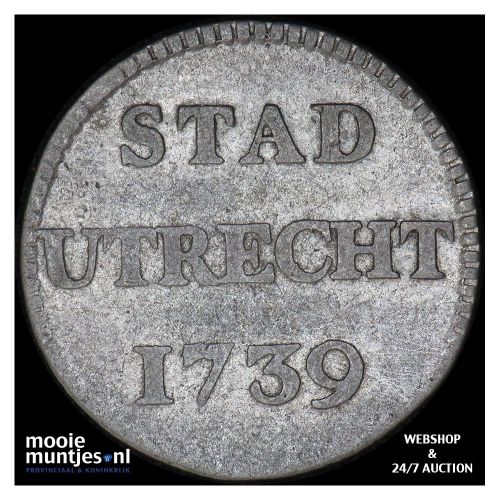 Stad Utrecht - Duit - 1785 (kant A)