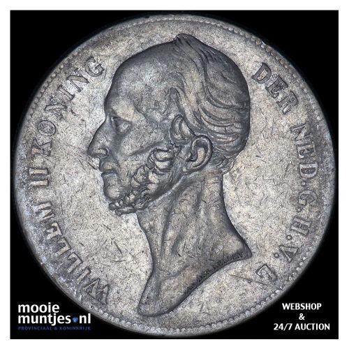 2½ gulden - Willem II - 1843 (kant B)