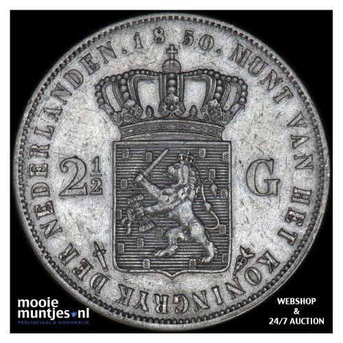 2½ gulden - Willem III - 1850 (kant A)