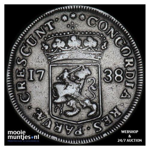 Zeeland - Zilveren dukaat - 1738 (kant A)