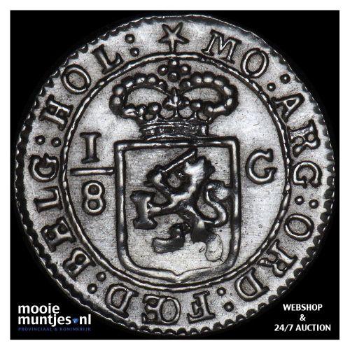 Nederlands-Indië - 1/8 gulden - 1802 (kant B)