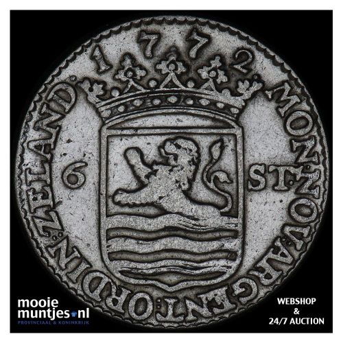 Zeeland - Scheepjesschelling - 1772 (kant A)