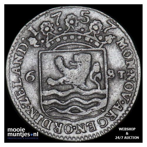 Zeeland - Scheepjesschelling - 1757 (kant A)