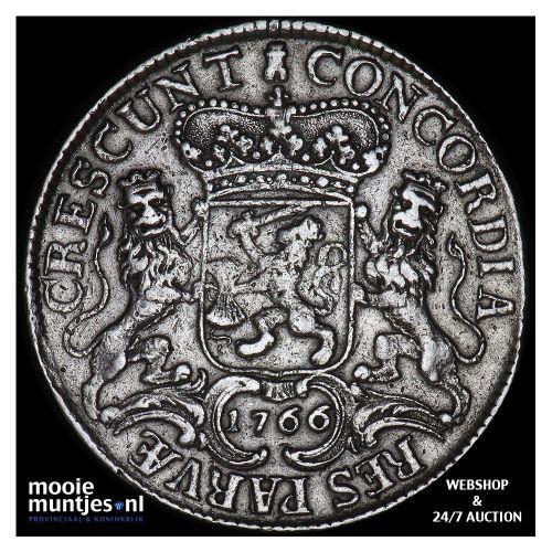 Zeeland - Zilveren rijder of dukaton - 1766 (kant A)