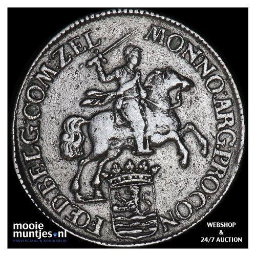 Zeeland - Zilveren rijder of dukaton - 1766 (kant B)