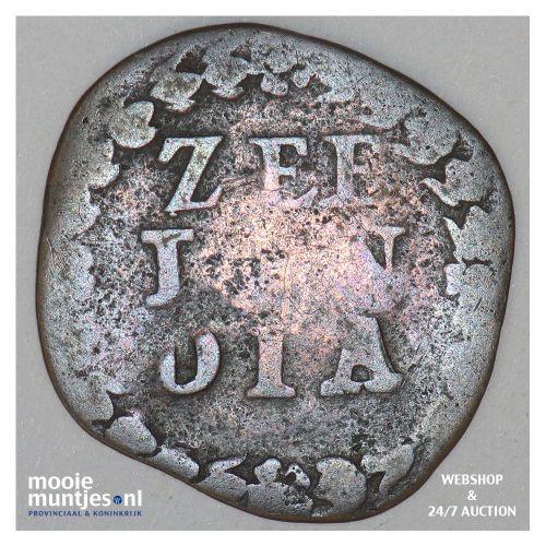 Zeeland - Duit - 1720 (kant B)