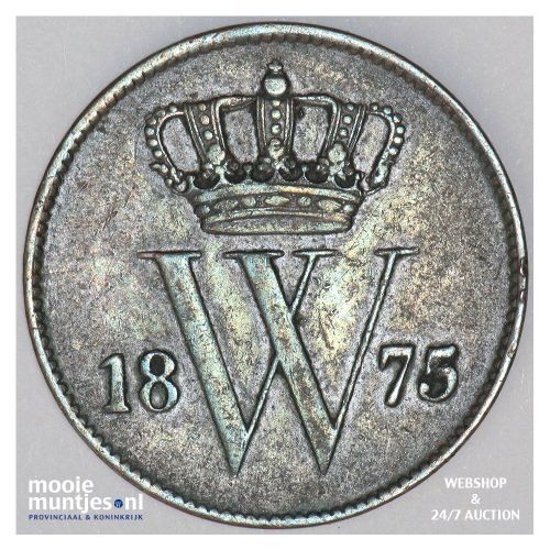 1 cent - Willem III - 1861 (kant A)