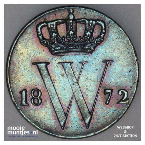 ½ cent - Willem III - 1862 (kant A)