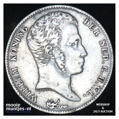 ½ gulden - Willem I - 1829 over 23 Brussel (kant B)