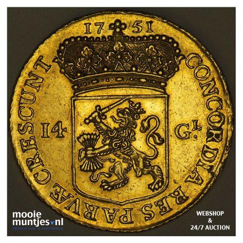Utrecht - Gouden rijder, nieuw type - 1751 (kant A)