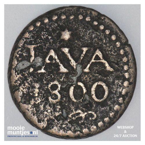 Nederlands-Indië - 1 Stuiver - 1800 (kant A)
