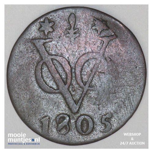 Nederlands-Indië - Duit - 1805 Gelderland (kant A)