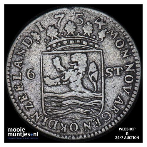 Zeeland - Scheepjesschelling - 1754 piedfort (kant A)