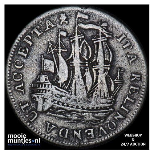Zeeland - Scheepjesschelling - 1754 piedfort (kant B)