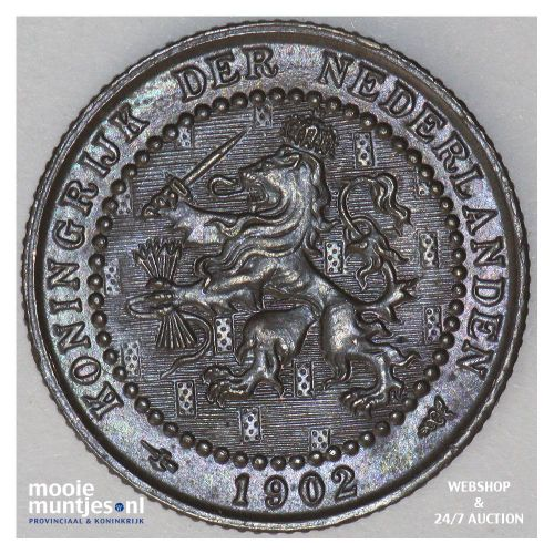 1 cent - Wilhelmina - 1902 (kant A)