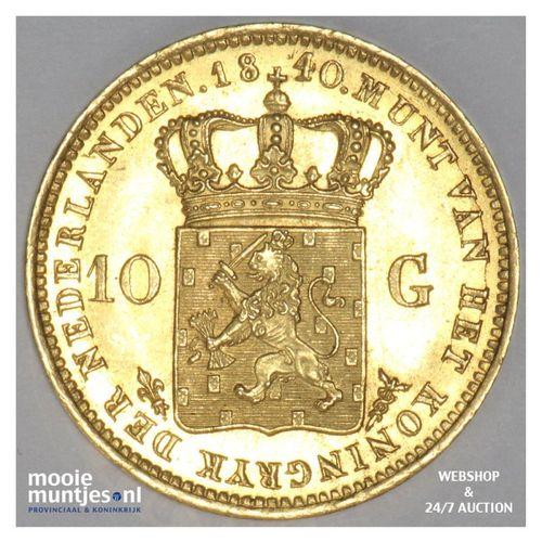 10 gulden - Willem I - 1840 over 40 (kant A)