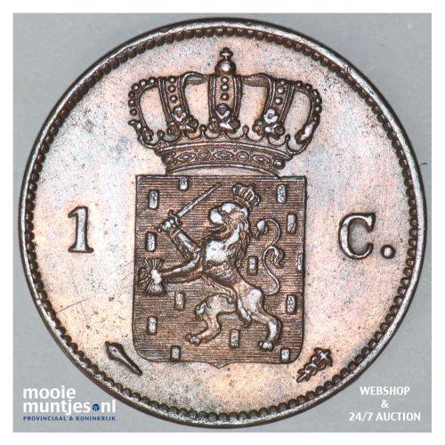 1 cent - Willem I - 1822 Utrecht (kant B)