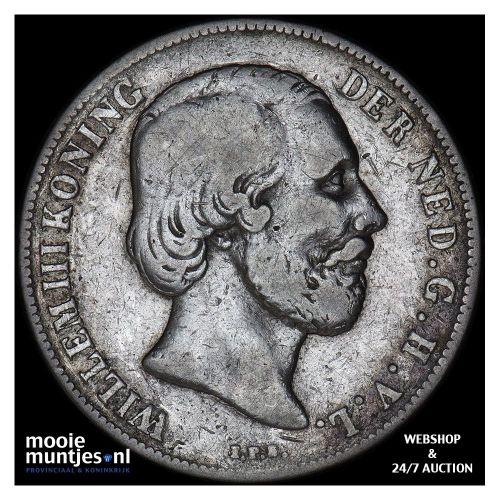 1 gulden - Willem III - 1865 (kant B)