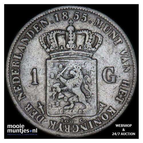 1 gulden - Willem III - 1865 (kant A)