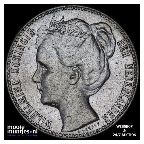 1 gulden - Wilhelmina - 1908 (kant B)