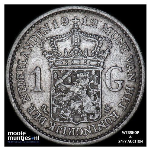 1 gulden - Wilhelmina - 1908 (kant A)