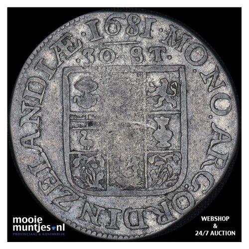 Zeeland - Zilveren rijder of dukaton - 1659 (kant A)