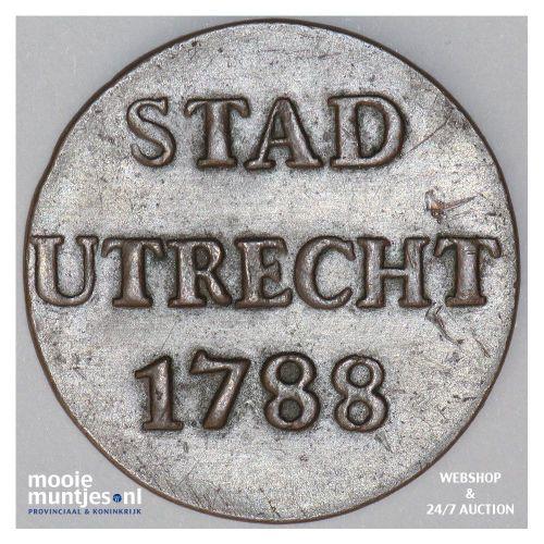 Stad Utrecht - Duit - 1634 (kant A)