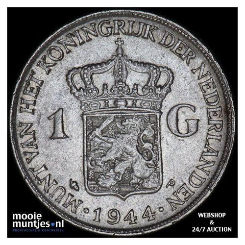 1 gulden - Wilhelmina - 1944 EP (kant A)