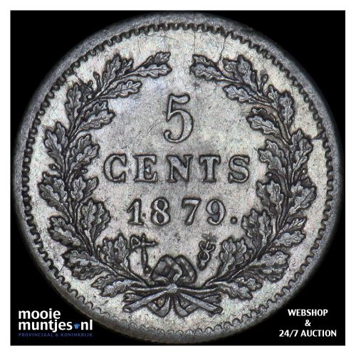 5 cent - Willem III - 1879 (kant A)
