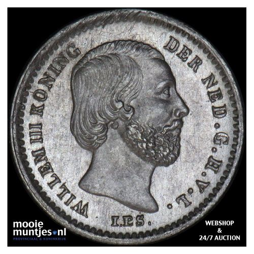 5 cent - Willem III - 1879 (kant B)