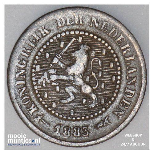 ½ cent - Willem III - 1883 (kant A)