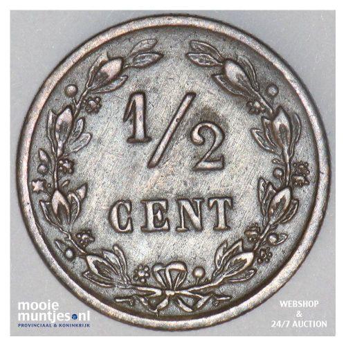 ½ cent - Willem III - 1883 (kant B)