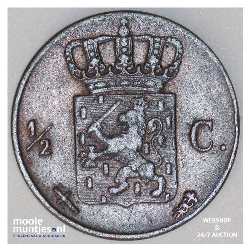 ½ cent - Willem III - 1851 (kant B)