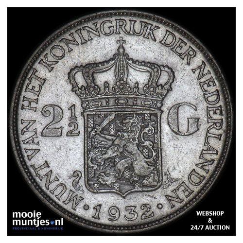 2½ gulden - Wilhelmina - 1940 (kant A)