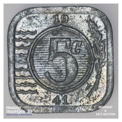 5 cent - Wilhelmina - 1941 (kant A)