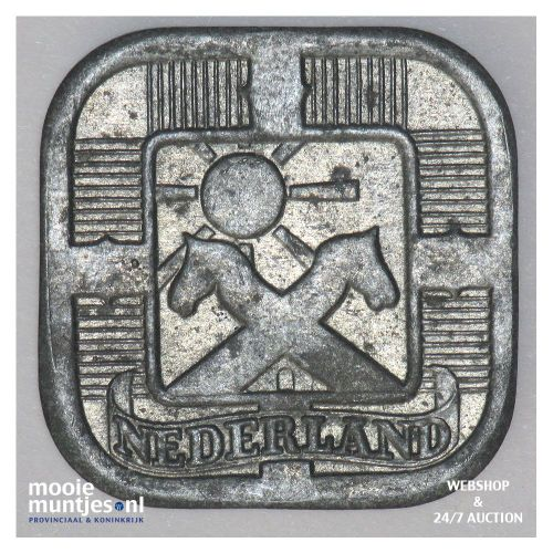 5 cent - Wilhelmina - 1941 (kant B)