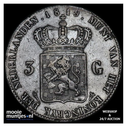 3 gulden - Willem I - 1819 (kant A)