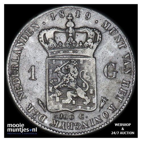 1 gulden - Willem I - 1819 (kant A)
