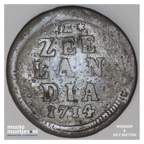 Zeeland - Duit - 1714 piedfort MPO (kant A)