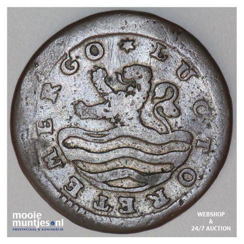 Zeeland - Duit - 1714 piedfort MPO (kant B)