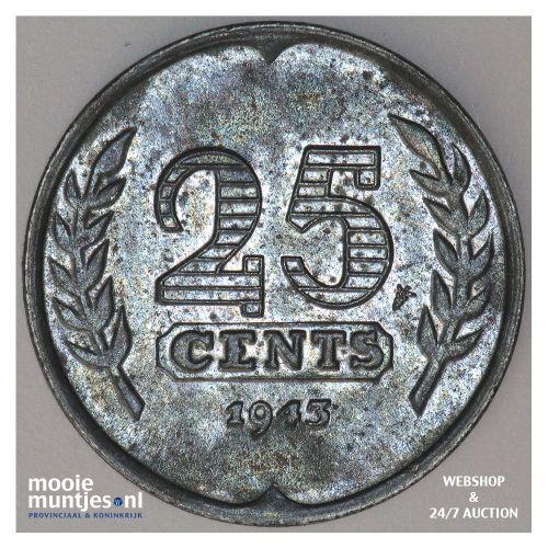 5 cent - Willem III - 1853 (kant A)
