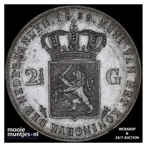 2½ gulden - Willem III - 1872 (kant A)