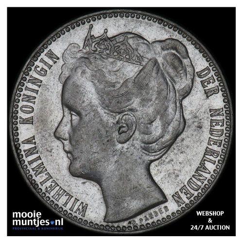1 gulden - Wilhelmina - 1905 (kant B)
