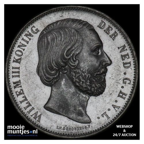 2½ gulden - Willem III - 1871 (kant B)