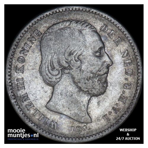 25 cent - Willem III - 1889 (kant B)