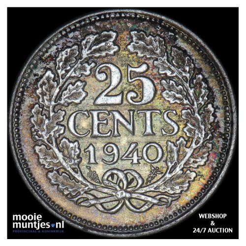 25 cent - Willem III - 1889 (kant A)