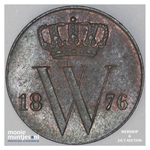 ½ cent - Willem III - 1863 (kant A)