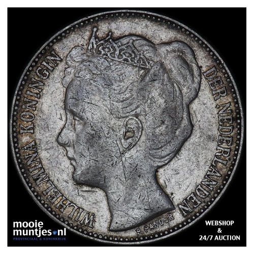 2½ gulden - Wilhelmina - 1898 a (met punt) (kant B)