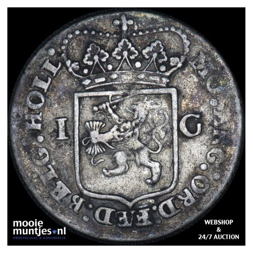 Holland - 1 gulden - 1795 (kant B)