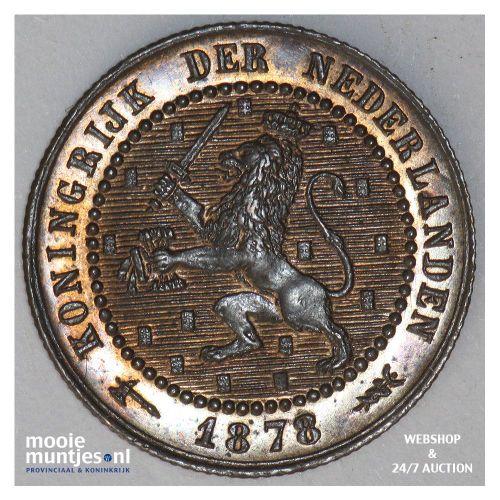1 cent - Willem III - 1878 (kant A)